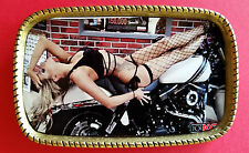 Harley Bikes and Babes #1 Epoxy Photo belt Buckle - NEW!