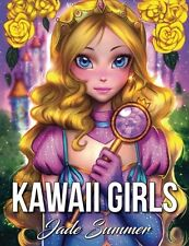 Kawaii Girls: A Cute Coloring Book with Lovable Manga Characters......[Paperback