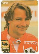 1985 portugués De Bolsillo Calendario F1 Scuderia Ferrari Team Driver Rene Arnoux