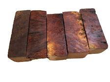 "5 Pieces, Australian Red Mallee Wood Bottle Stopper Blanks 1-1/2"" x 1-1/2"" x 4.5"