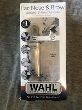 WAHL Home Products Ear Nose & Brow Wet/Dry 2 Head Trimmer No Battery