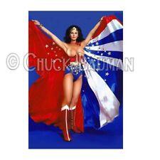 Fridge Magnet WONDER WOMAN Lynda Carter American Flag cape topless comic hero