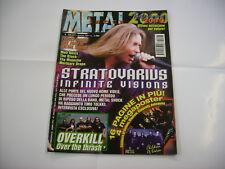 METAL SHOCK #326/327 - STRATOVARIUS - OVERKILL - MORTUARY DRAPE - MOB RULES