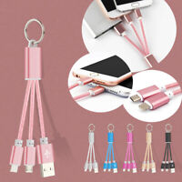Mini Keychain For Phone Micro USB Charger Cable Portable Charging Sync Data Cord