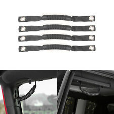 Roll Bar Grab Handles Straps Handles Compatible with Jeep Wrangler YJ TJ JK JL /& Gladiator JT 1985-2020 4Pcs Black Grip Handles