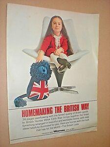 HOMEMAKING THE BRITISH WAY. 1967 WOMAN MAGAZINE SUPPLEMENT. FASHION STYLE DESIGN