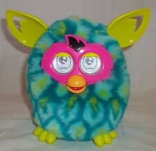 Hasbro Furby BOOM Peacock teal lime pink Electronic Works EUC
