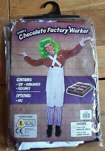 Child's Chocolate factory Worker Umpa Lumpa Unisex Costume World Book Day