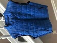 Men's XL Straight Down Golf Delta Vest - Blue w/ Logo - Mint!