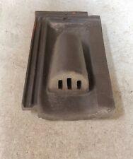 Lüftungsziegel Rupp Keramik Durchgang Solarziegel Doppelfalz braun engobiert