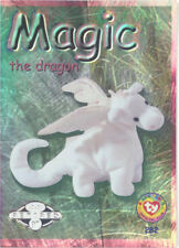 TY Beanie Babies BBOC Card - Series 2 Retired (SILVER) - MAGIC the Dragon - NM/M