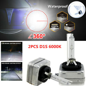 2X D1S 6000K Xenon Bulb Lamp Hid Car SUV Headlight Kit Waterproof White 35W 12V