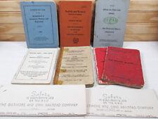 7 Vtg Railroad Train Safety Guide Book Lot B&O Norfolk Western Manuals Booklets