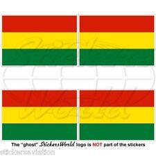 """BOLIVIA Bolivian Civil Flag 50mm (2"""") Vinyl Bumper-Helmet Stickers Decals x4"""