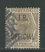 Great Britain 1882-85 Queen Victoria 6p gray I.R. Official (O6) used