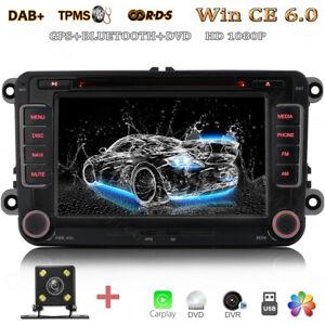 Rückfahrkamera+ GPS Autoradio Touchscreen DVD USB MP3 Für VW Golf Amarok Beetle