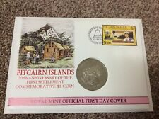 PITCAIRN ISLANDS 200th ANNIVERSARY OF THE FIRST SETTLEMENT $1 COIN 1990