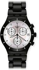 Swatch Ycb4026ag Mens Silver Dial Analog Quartz Watch With Aluminium Strap