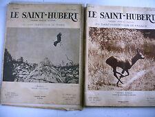 chasse animaux LE SAINT HUBERT CLUB ILLUSTRE lot 10 revues 1936 / 39