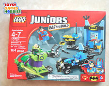 *NEW* LEGO Juniors Batman & Superman vs Lex Luthor 10724 Bat Cave Batmobile Mech