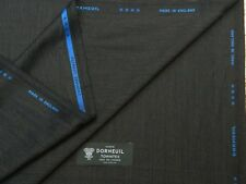 DORMEUIL 'CASHMERE TOWNTEX' 95%WOOL 5%CASHMERE SUITING FABRIC CHARCOAL FANCY3.5M