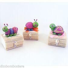 Offerta stock Bomboniere confettate scatoline animali rosa nascita battesimo