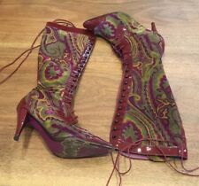 Etro Multi Colored lace up boots