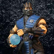 "Mezco Mortal Kombat X 12"" Sub Zero Action Figure Knives Ice Ball Jumbo Large NEW"