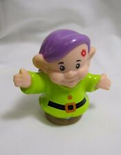 New! Fisher Price Little People DOPEY DWARF Disney's Snow White w/ KISS! Cottage