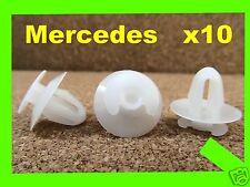 10 Mercedes Benz Verkleidung Halteklammern Tür Auto Kunststoff Verschluss 58K