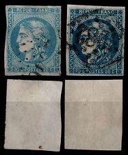 2 Teintes du CERES n°46B / Oblitérés = Cote 75 € / Lot Classiques France