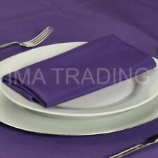 "1-100 CADBURYS PURPLE POLYESTER NAPKINS SMALL 17X17 INCH OR STANDARD 22"" NEW UK"