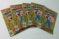 5 Copies of 1991 Captain America 383 Marvel Comics Comic book:Crossbones/USAgent