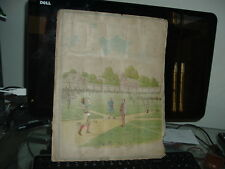 1890's Baseball Scrapbook Page Kinney Bros Tobacco Actresses National game