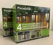 2 Sets (Paradise Outdoor Solar LED Post Light 4 Pack ) Total 8 Patio Lights
