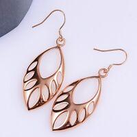 18k Rose GolD Plated  Hollow Beads Earrings Women Fashion Jewelry ***UK Seller
