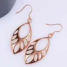 18k Rose GolD Plated  Hollow Beads Earrings Women Fashion Jewelry ***UK Seller