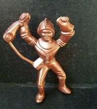 "Vintage 1950's Ajax Archer Space Ranger Spaceman Hard Plastic Brown 4"" Figure"