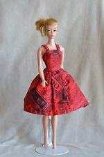 Barbie Vintage Handmade Homemade Paris Map Print Dress, 60s