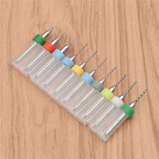 10 X 0.3-1.2mm Micro Drills Set Pcb Cnc Press Fits Dremel Bits Micro Drill Bits