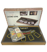 Blackjack Roulette Tabletop Casino Game At Home 2 In 1 Cards Chips FREE SHIPPING