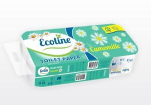 Ecoline 50 Toilettenpapier 3-lagig Klopapier WC-Papier weiß Zellstoff 150 Blatt