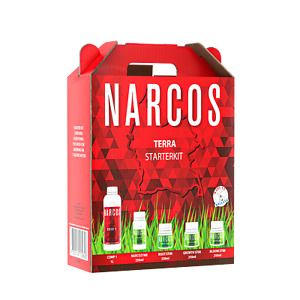Narcos Starterset Terra Dünger Starter Kit Box Grow Indoor mit Schema