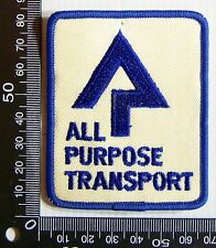 VINTAGE ALL PURPOSE TRANSPORT QLD EMBROIDERED PATCH WOVEN CLOTH SEW-ON BADGE