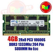 MEMORIA RAM SAMSUNG 4GB DDR3 1X4GB 2RX8 PC3 10600S 1333MHZ DDR3 SODIMM 204 PIN M