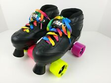 EPIC NITRO Black Colorful Speed Quad ROLLER SKATES Youth Size 4