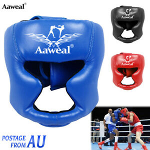 Headgear Face Head Guard Training Kick Boxing Protector Gear Helmet Kids adult