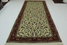 täbrizi avec SOIE SUR SOIE persan Tapis Tapis d'Orient 4,71 x 1,93
