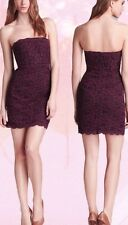 $365NWT Diane Von Furstenberg purple lace strapless Walker Dress Sz. 12