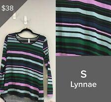 LULAROE LYNNAE TOP SHIRT NWT SIZE S, BLACK, MULTICOLORED PATTERN 2873